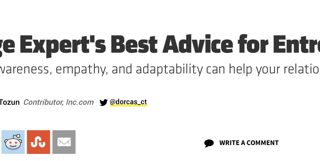Best Advice for Married Entrepreneurs for Inc. Magazine