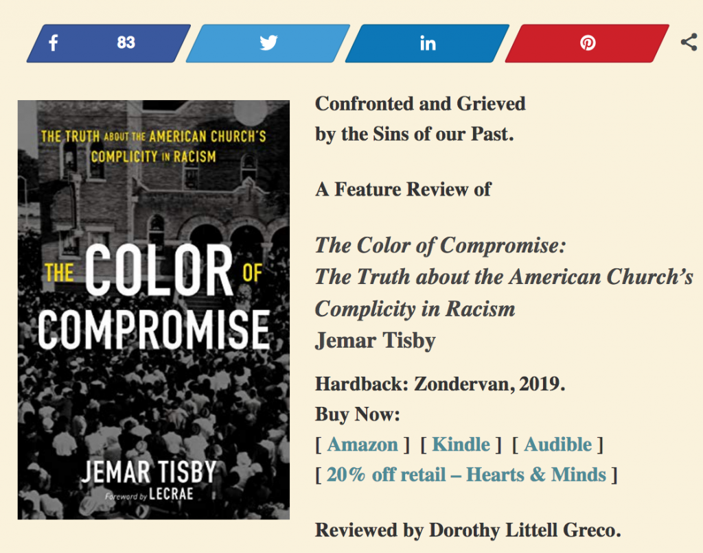 Jemar Tisby S The Color Of Compromise Dorothy Greco