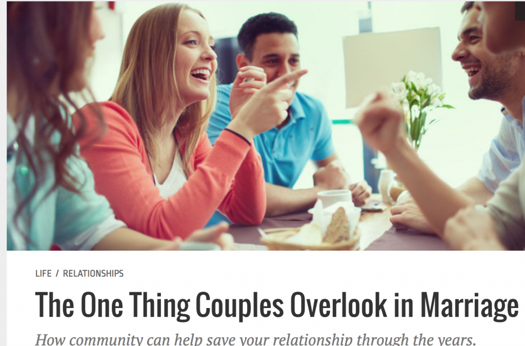 One Thing Couples Overlook: Community, at Relevant Magazine